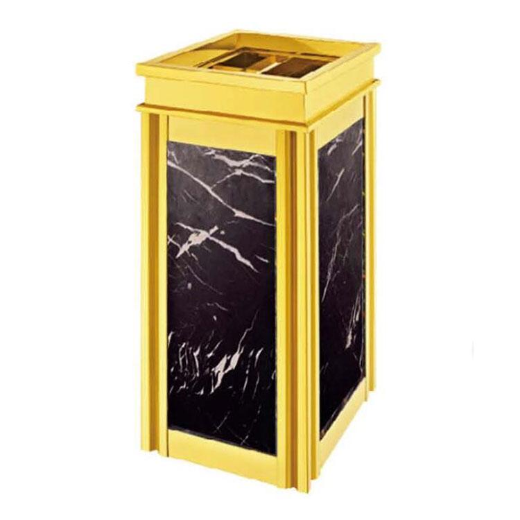 四菱角座地垃圾桶带烟灰缸不锈钢立式创意商场大号烟灰桶