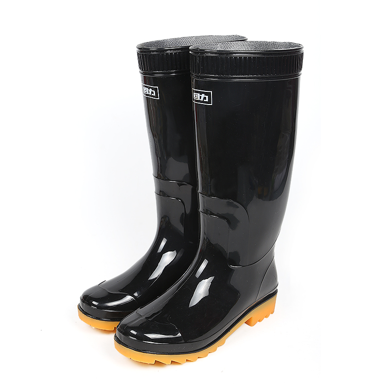 回力雨鞋男女款高筒防滑耐磨牛筋底大码水鞋雨靴劳保平底胶鞋