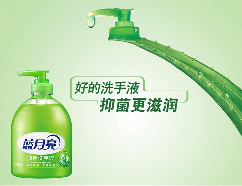 蓝月亮洗手液芦荟精华滋润抑菌500g